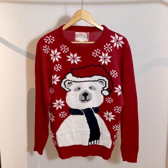 Christmas Polar Bear Knit Sweater